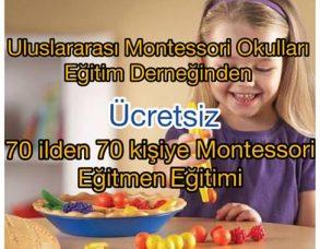 Montessori Eğitmenlik Kursu İçin 1000 Başvuru